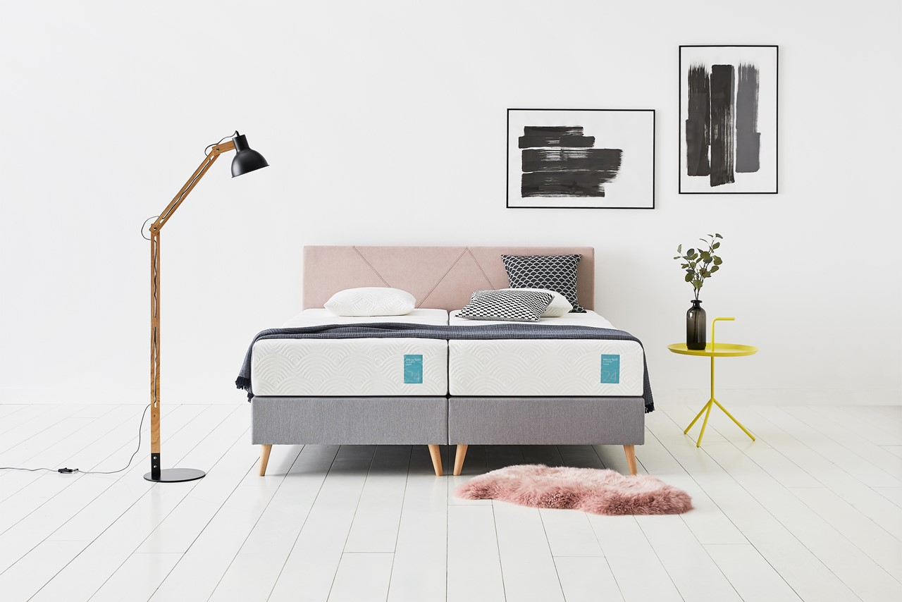 Tempur boxspring Graphic pink